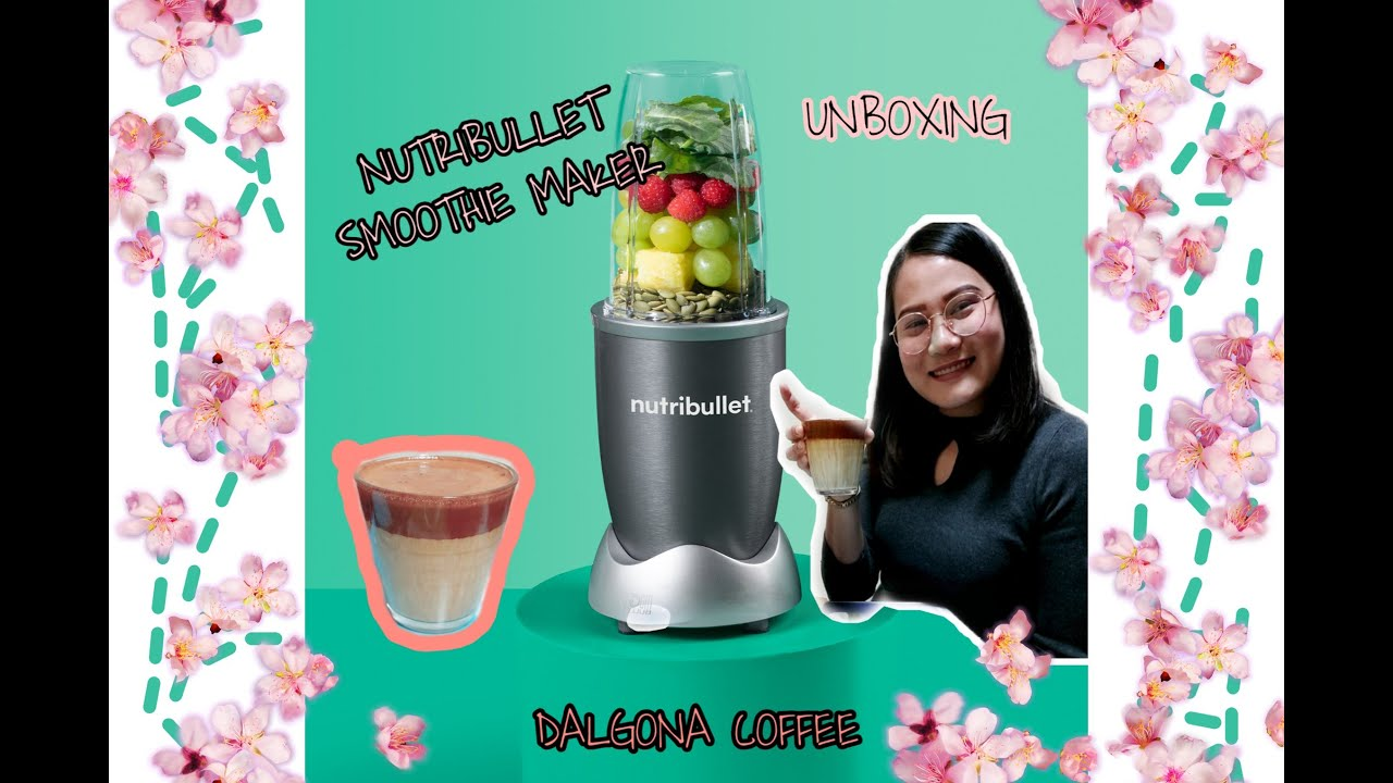 Dalgona Coffee With Nutribullet Unboxing Youtube