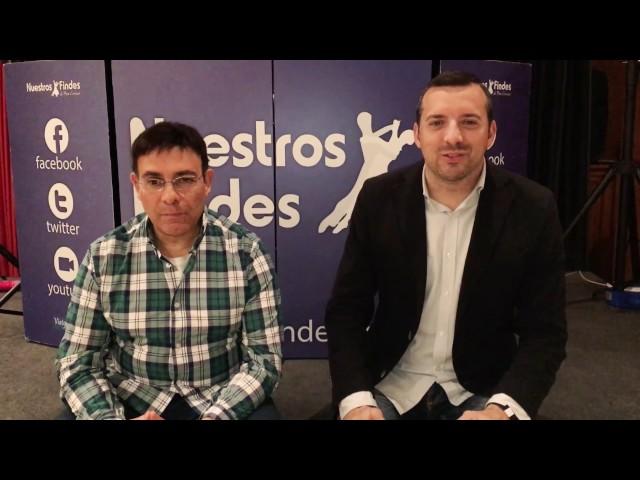 David Carrasco charla con Luis Escudero antes de su actuación con Nuestros Findes