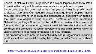 Kannis Puppy Large Breed Dog Food   Chicken 3 Kg