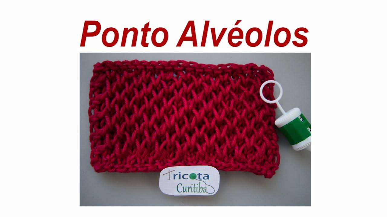 Ponto Alvéolos {Tricota Curitiba} - YouTube