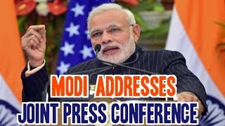 PM Modi speaks at Joint Press Conference with Obama in Hyderabad House | Delhi