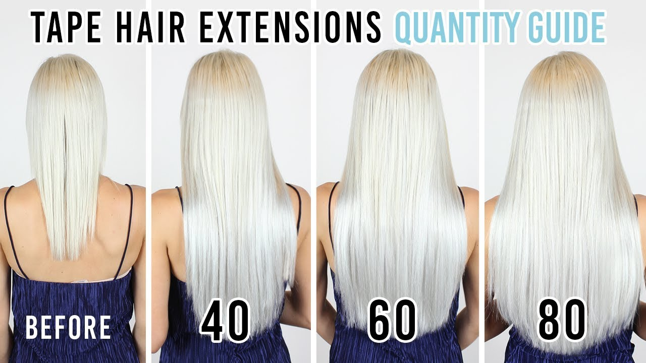 Tape Hair Extensions Quantity Guide Zala Hair Extensions Youtube
