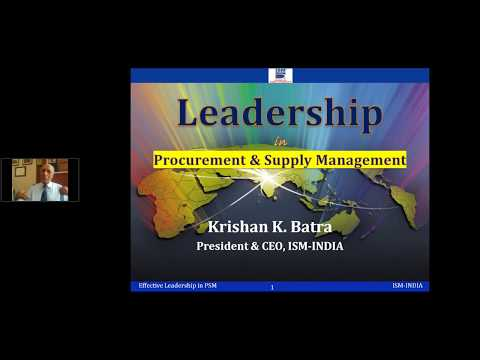 Effective Leadership in Procurement & Supply Management
