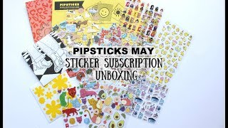 Pipsticks Sticker Subscription Unboxing May