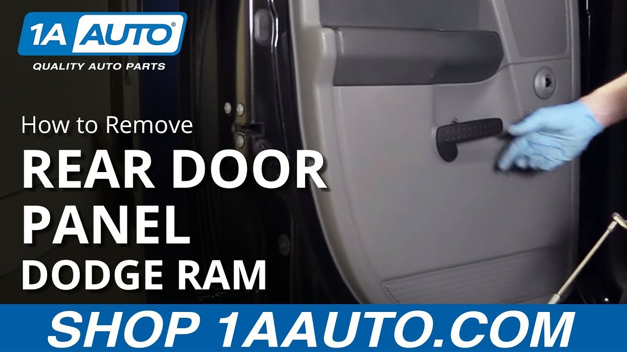 How To Remove Install Rear Door Panel 2002 08 Dodge Ram