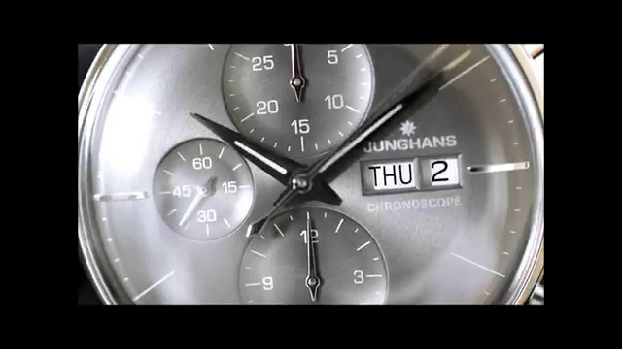 b6152e9793a04 Junghans Meister Chronoscope 027 4324.45 - YouTube