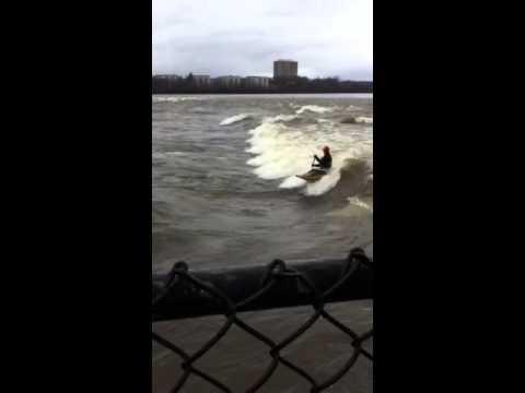 Ice Surfing Ottawa River