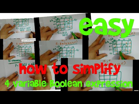How to simplify 4 variable Boolean expression