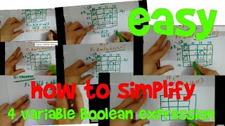 How to simplify 4 variable Boolean expression | very easy thumbnail