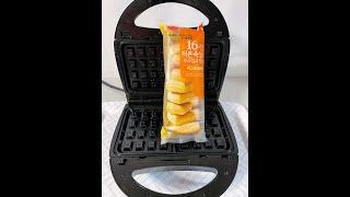 와플메이커에 치즈후레시팡을 넣고 누르면...?