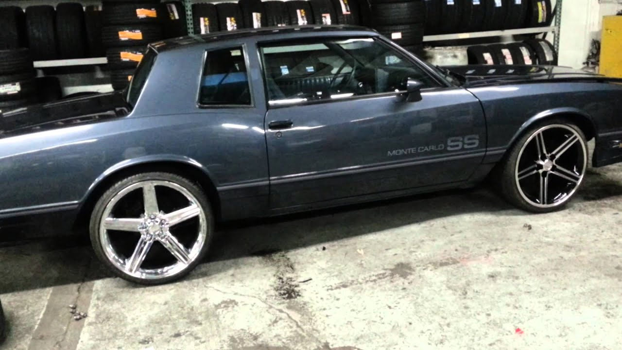 Ss Monte Carlo >> 22inch Irocs on the 1984 monte carlo ss - YouTube