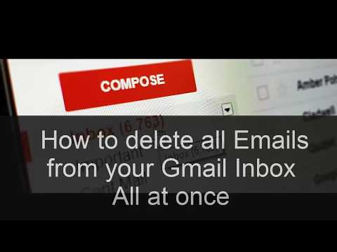In Gmail, how to delete all emails quickly