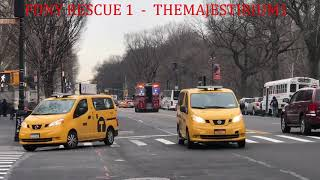 """COMPILATION OF FDNY RESCUE 1 """"ONLY"""" RESPONDING IN VARIOUS NEIGHBORHOODS OF MANHATTAN, NEW YORK.  04"""
