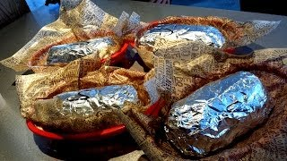 4 Chipotle Burritos & A Diet Coke