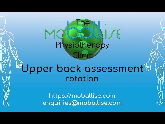Upper back assessment - rotation
