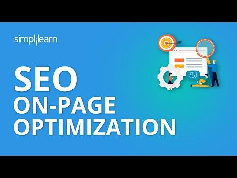 SEO On-Page Optimization | SEO Tutorial For Beginners | Simplilearn