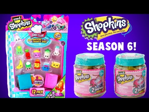 SHOPKINS Season 6 Chef Club 12 Pack And Surprise Jars ULTRA RARE