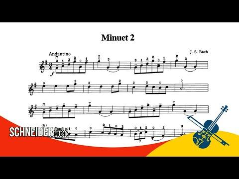 14 - MINUET 2, J. S. BACH - Suzuki Vol 1 - Violin / Violino / Tutorial