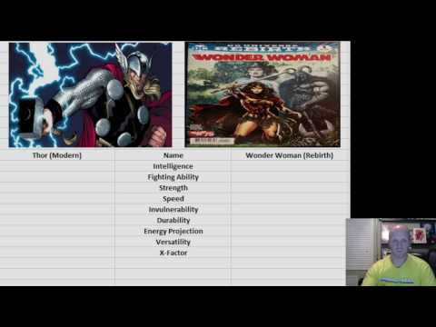Marvel vs DC Thor modern vs Wonder Woman REbirth