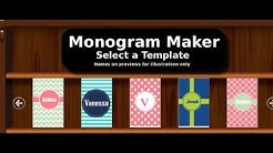 Monogram Maker App Monogram It iPhone App Review