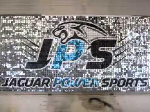 Marvelous Jaguar Power Sports SolaRay Sequin Cashwrap Sign Display