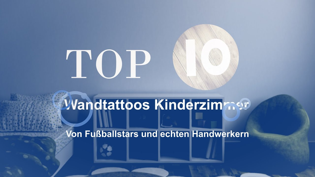 top 10 die beliebtesten wandtattoos f r das jungen kinderzimmer youtube. Black Bedroom Furniture Sets. Home Design Ideas
