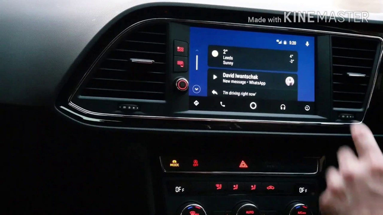 Android Auto Demo and Walkthrough in a Seat Leon FR