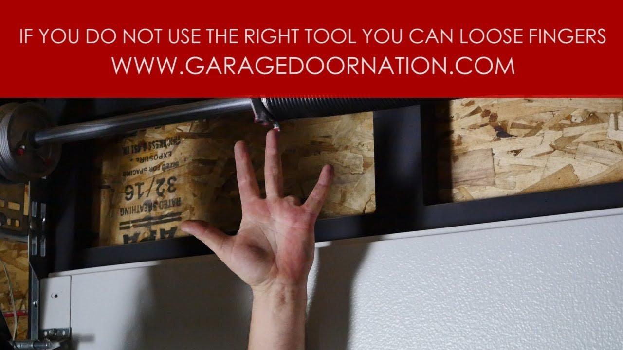 Broken Garage Door Torsion Spring How It Happens Youtube