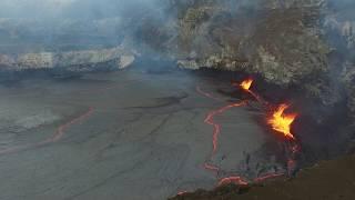 Drone descends 200 feet into Hawai'i's Kilauea Volcano two weeks before eruption