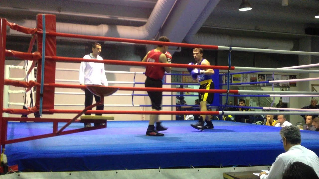 Amateur Boxing bout (75 kg - Middleweight division) Knock- Down on the 2nd round!!!