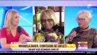 """Mirabela Dauer, confesiuni de suflet: """"M-a lovit trenul și nu m-a omorât"""""""