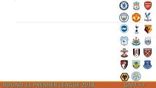 Lịch thi đấu Ngoại hạng Anh vòng 11 [2018-2019]