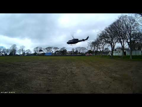 helicopter at nobles park isle of man