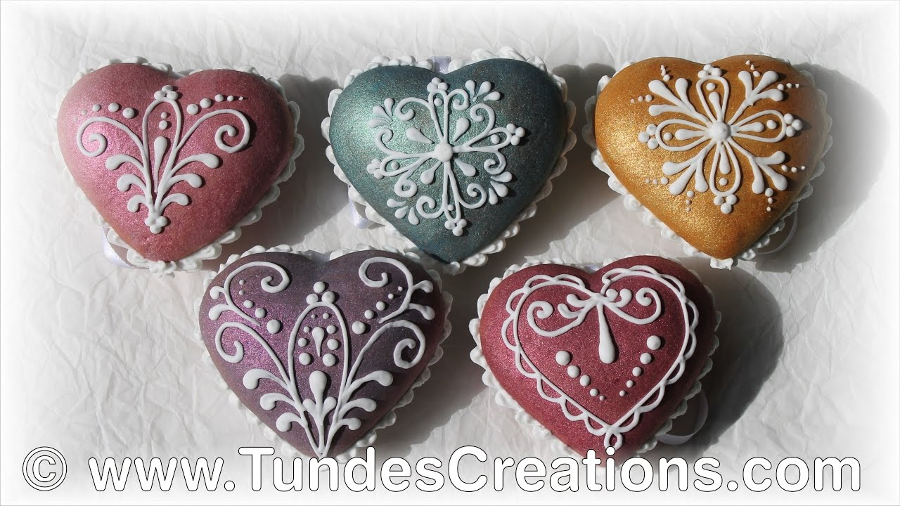 heart gingerbread christmas ornaments with trucolor shine colors and lace design youtube - Gingerbread Christmas Ornaments