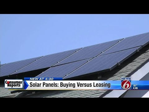 Solar Panels: Buying vs leasing