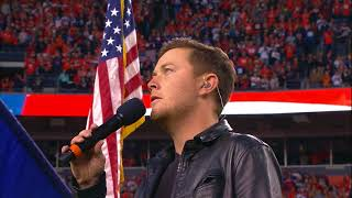 Scotty McCreery Performs the National Anthem at the Denver Broncos vs NY Giants