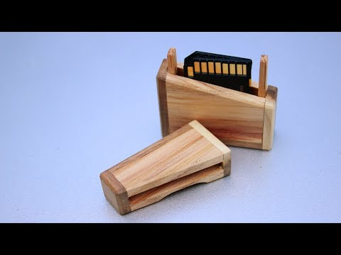 Coolest wooden SD card holder you have seen!
