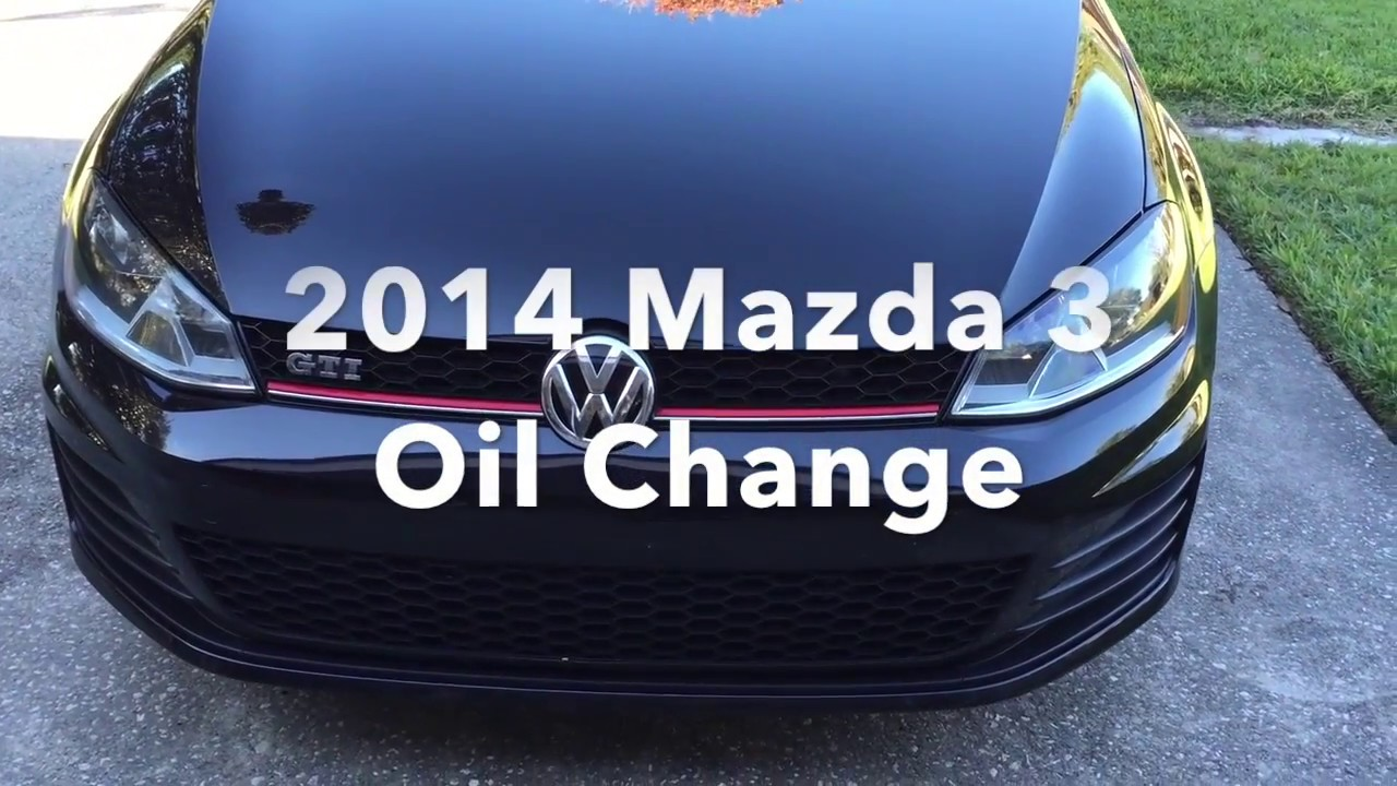 2014 mazda 3 oil change - part one - youtube