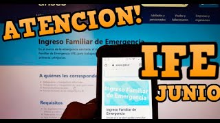 🚨Como COBRAR EL IFE EN JUNIO 2020 | Actualizacion de datos CBU