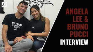 Angela Lee and Bruno Pucci discuss married life, their first kiss and watching each other fight