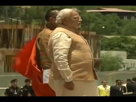 India PM Narendra Modi receives grand welcome from Bhutan Government