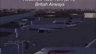 fs2004 Heathrow to New York (JFK) with British Airways