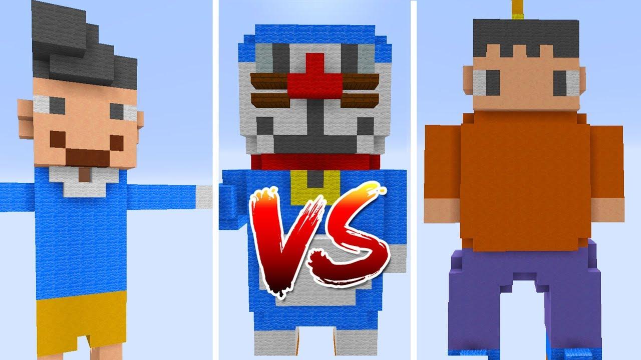 Thử Thách Làm Doremon Trong Minecraft (Minecraft)