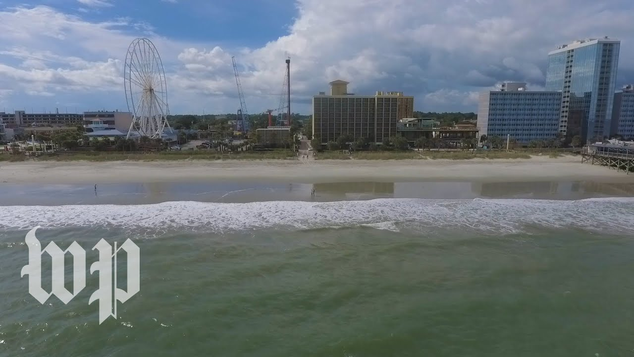 Drone footage: Myrtle Beach an eerie ghost town ahead of Hurricane Florence