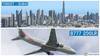 Istanbul   Dubai | Emirates B777 200lr | Vatsim | X Plane 11