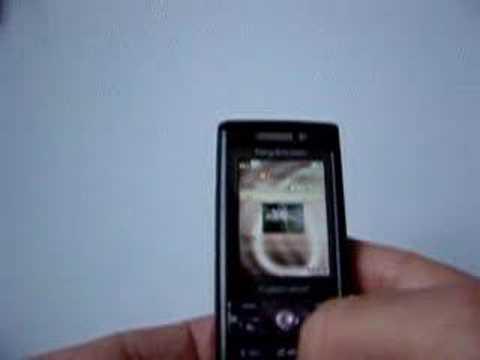 Demo of Sony Ericsson K800i publishing to Blogger