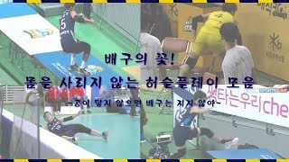 [우리카드위비] 배구의 꽃! 몸을 사리지 않는 허슬플레이 모음 volleyball korea