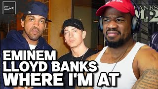 Download EMINEM & LLOYD BANKS - WHERE I'M AT - THEY TALKIN BOUT LOVE THO, OH WELL....LETS GET IT!