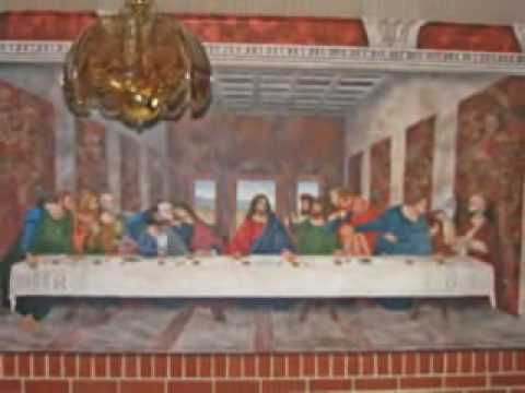 Painting A Mural Of Da Vincis The Last Supper YouTube