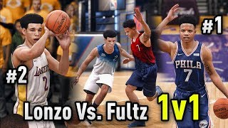 CAN LONZO BALL BEAT MARKELLE FULTZ IN A 1 ON 1?? | NBA LIVE 18 LAKERS VS. SIXERS GAMEPLAY